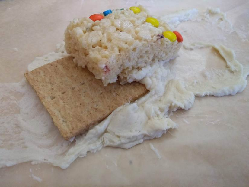 graham cracker tectonic plate snack tectonics frosting