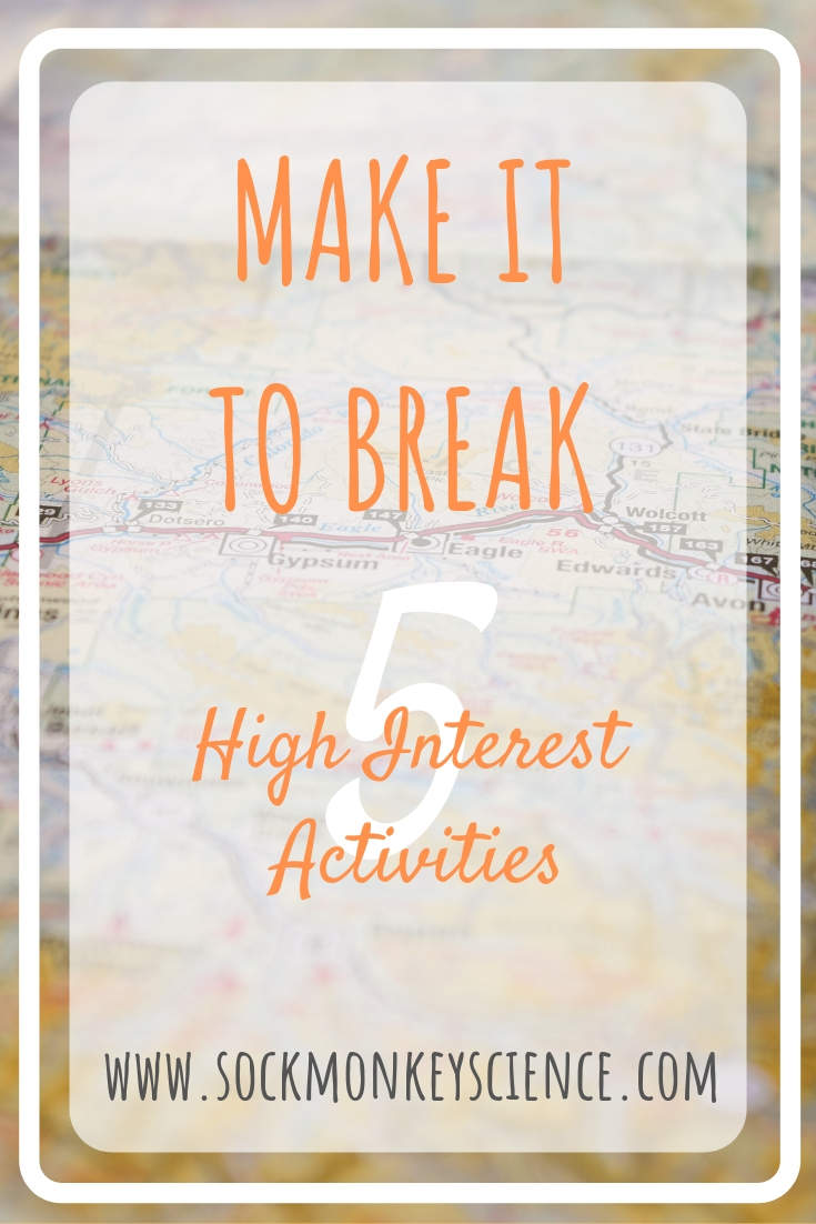 science activities for break holiday