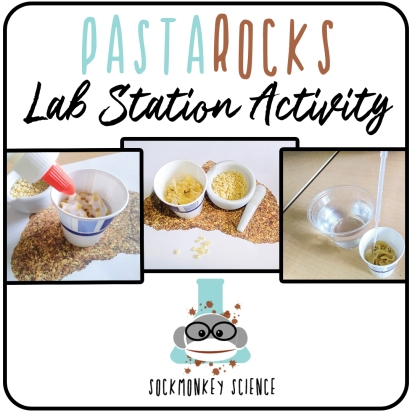 science class coquina pasta sedimentary rock formation lab activity teacher student experiment