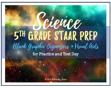 5th grade staar science prep supplemental aids and graphic organizers review strategies