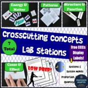 NGSS Crosscutting Concepts Lab Stations Professor Doubter